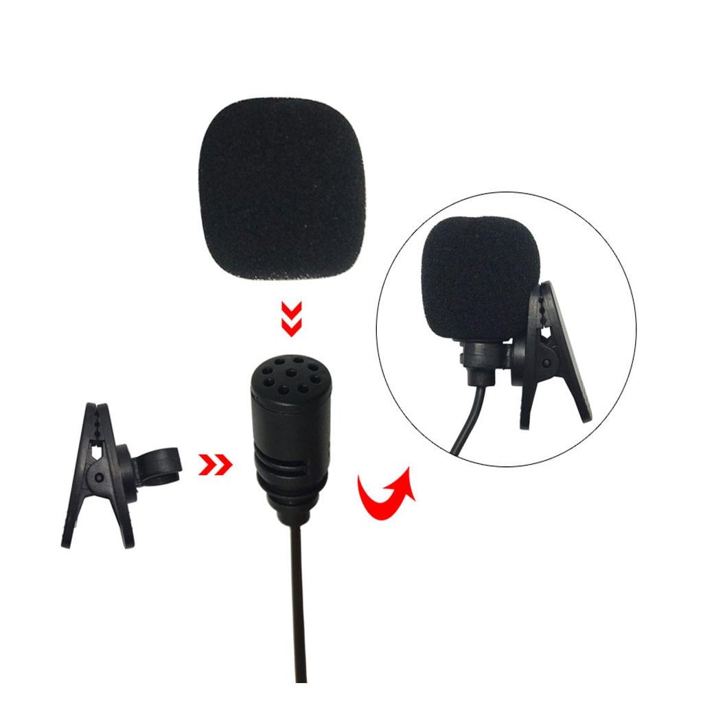 Nuevo micrófono Mini toma Jack estéreo de 3,5mm con cable de PVC, micrófono externo para PC, coche, DVD, reproductor GPS, Radio, Audio, micrófono #30