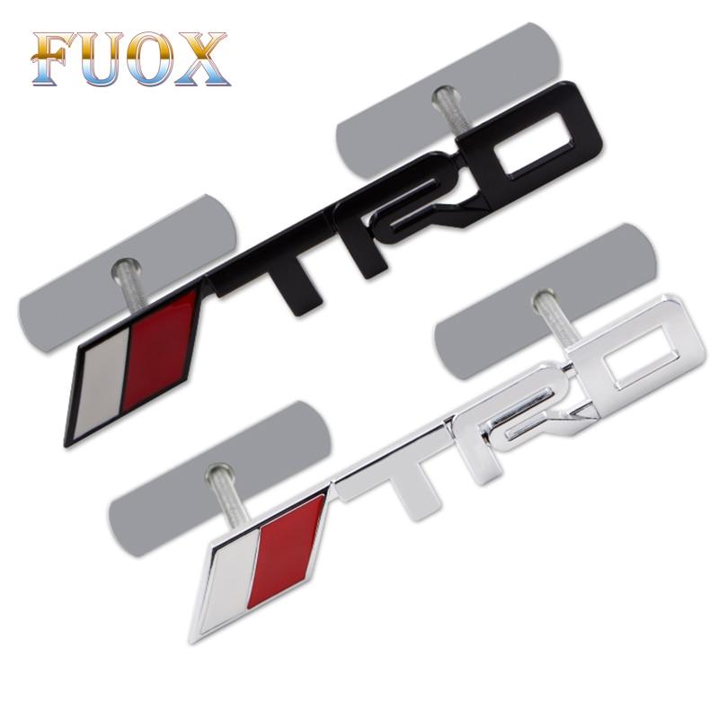 3D металлическая TRD решетка эмблема значок стикер Стайлинг TRD Металлическая Эмблема для toyota Гоночный автомобиль логотип JDM капюшон значок ...