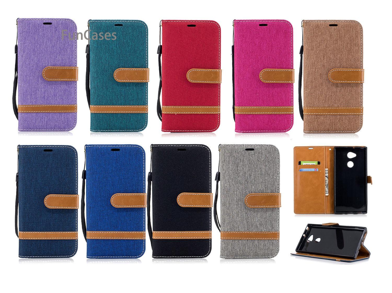 Funda de teléfono plegable colorida sFor Funda Sony XA2 Ultra Holsters Clips...