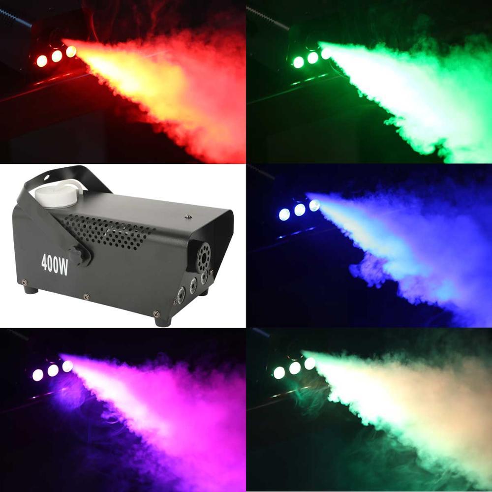 RGB مصباح ليد تأثير الضباب آلة لصنع الدخان قاذف DJ حزب المرحلة تحكم عن بعد