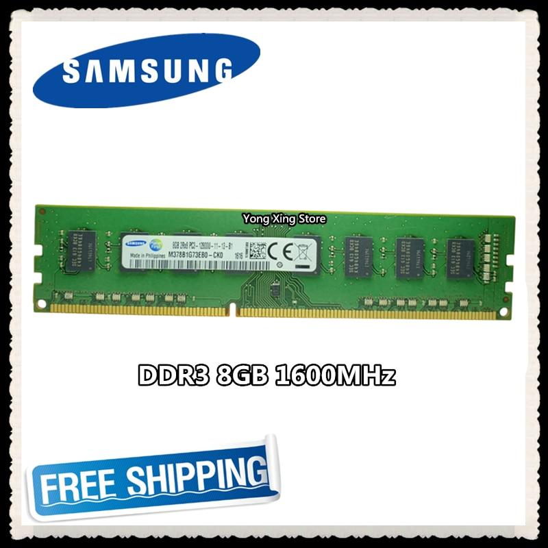 سامسونج ذاكرة عشوائيّة للحاسوب المكتبي DDR3 8GB 1600MHz 8G PC3-12800U PC RAM 240pin 1600 12800 DIMM