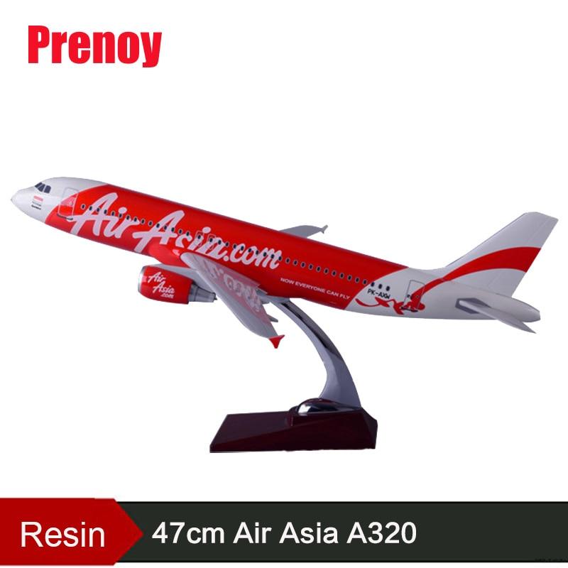 47 cm resina A320 Air Asia aviones modelo asiático Airbus Air Asia internacional modelo Airways A320 avión regalo juguete