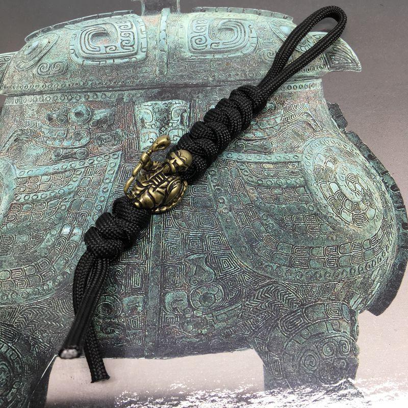 1PC Dragon Ball Turtle fairy Kame-Sennin Master Roshi Brass Knife Beads Paracord Lanyard Pendant Beads EDC Outdoor Pocket Tool