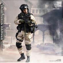 1/12 figura louca lw002 us miliary força especial (asoc) masculino solider figura brinquedo