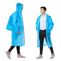 Outdoor Long Backpack Men Raincoat Waterproof Portable Clear Transparent Rain Coat Jacket Hooded Hiking Travel Rainwear R5C014
