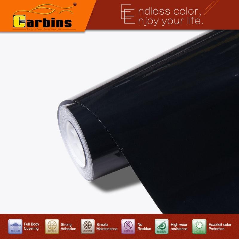 Pegatina envolvente de vinilo negro de alto brillo para coche, calidad libre de burbujas de aire, 3 capas con película de protección, tamaño de 1,52*28m