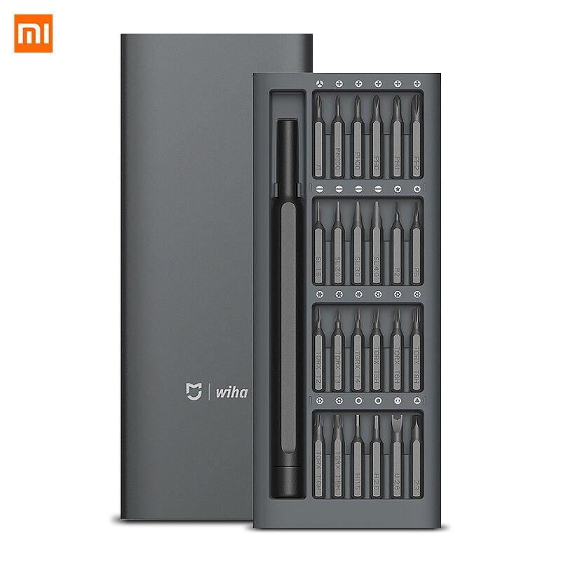 Original Xiaomi Mijia Wiha 24 en 1 de precisión de 60HRC Bits magnéticos Xiaomi Kit de Casa herramientas de reparación de Xiomi Xaomi