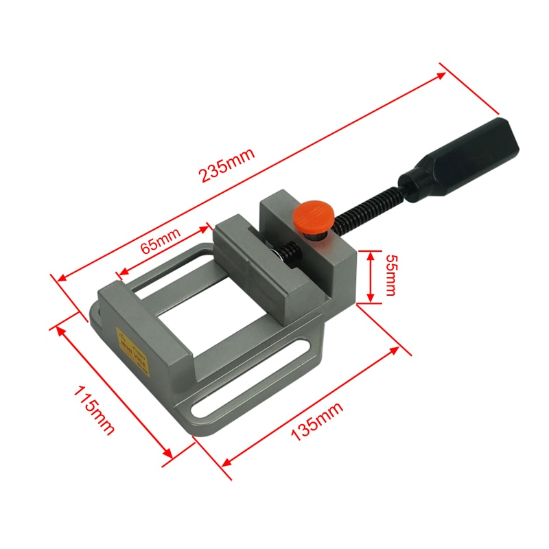 Flat tongs Aluminium alloy Vice Milling Machine Bench drill Vise Fixture enlarge