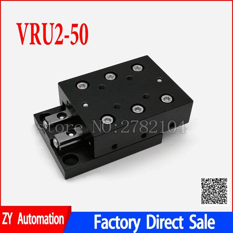 عبر الأسطوانة دليل لوحة دليل خطي السكك الحديدية CNC الصليب انزلاق المرحلة VRU2050 VRU2-50