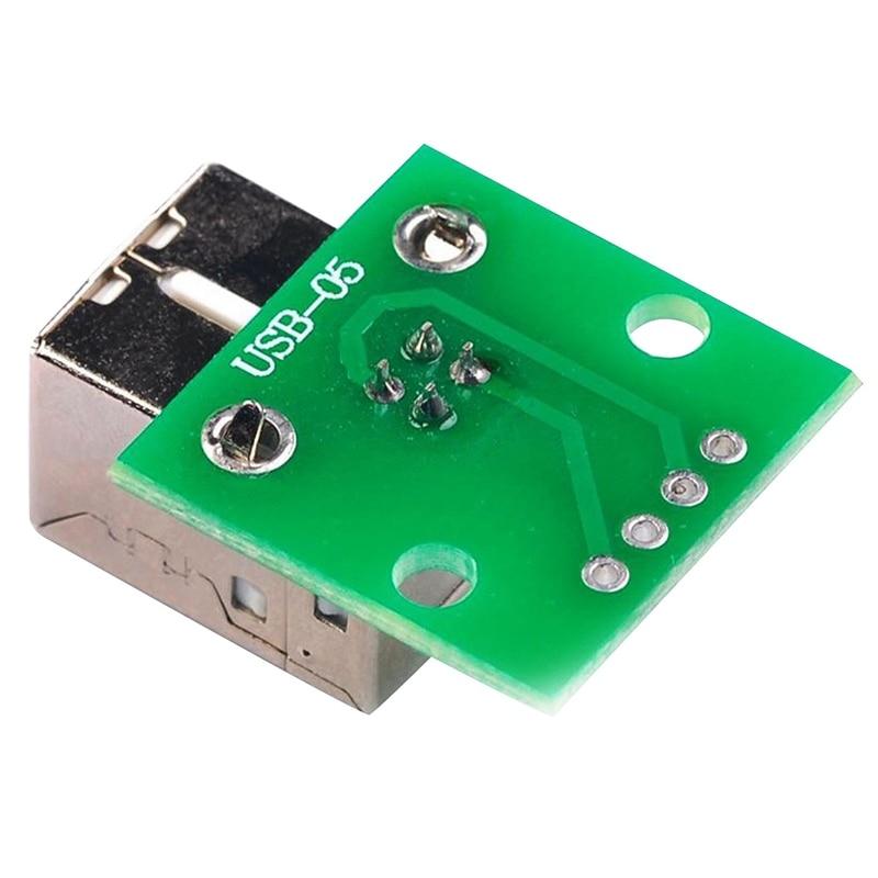 2 X Usb tipo B zócalo hembra Breakout Board 2,54 Mm conector adaptador de paso