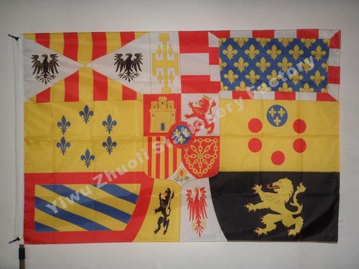 Spanish Royal 1931-1975 Flag 150X90cm (3x5FT) 120g 100D Polyester Free Shipping Spain National Flag