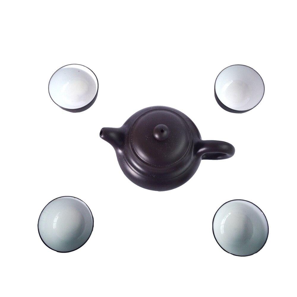 Juego de té de cerámica chino, exquisito traje de orgullo de porcelana con tetera y taza de té J2179