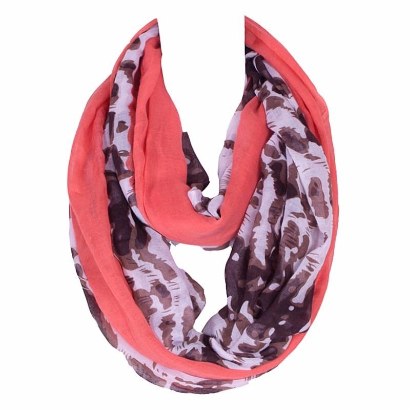 2019 New Lightweight Fashionable Warm Women Ring Scarf Flamboyance  Leopard Print Large Polyester Lady Loop Infinity Scarves