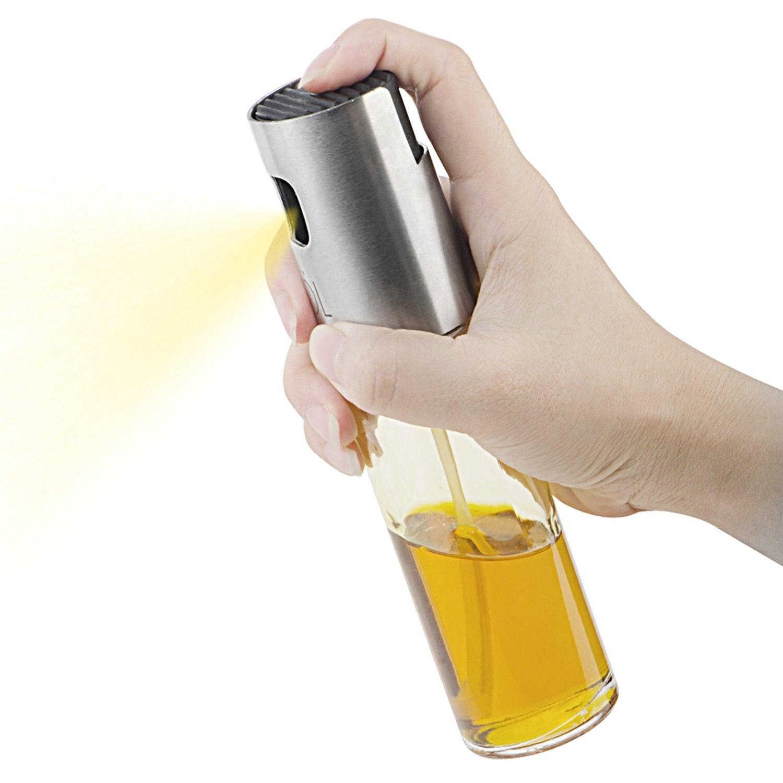 Top Portable Olive Oil Sprayer Dispenser for Cooking/BBQ/Salad/Stainless Steel Grilling Oil glass Bottle