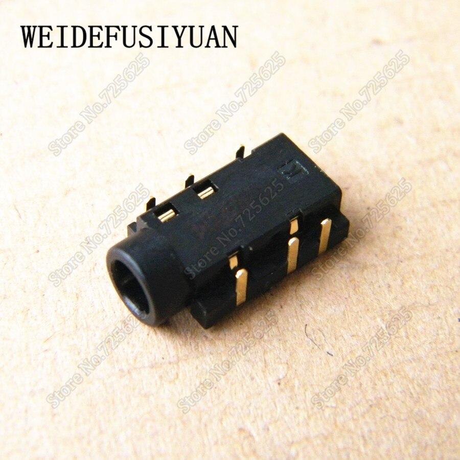 Nuevo puerto de Audio de 3,5mm zócalo para Asus X550V X550VC X453M X403 X403M conector de auriculares para ordenador portátil 6P 6-pin
