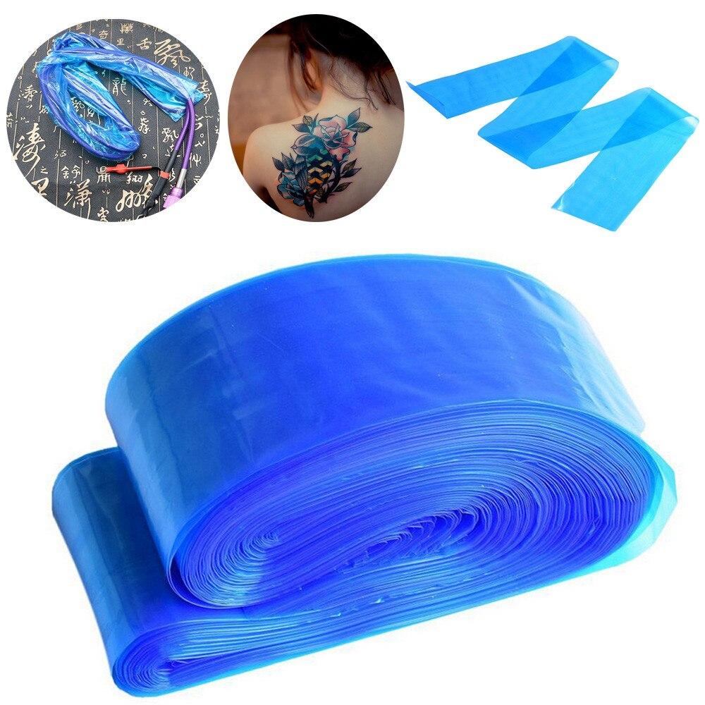100 шт. Синий Зажим для татуировки пластиковые рукава шнура пакеты одноразовые