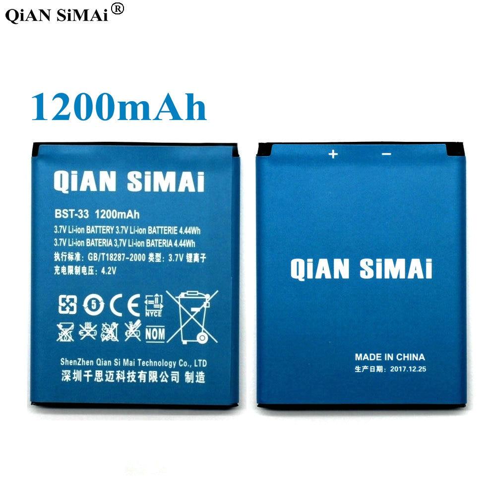 QiAN SiMAi High Quality BST-33 1200mAh Battery For Sony Ericsson K530 K790 K790i K790C K800 K800i K810i K818C W595C