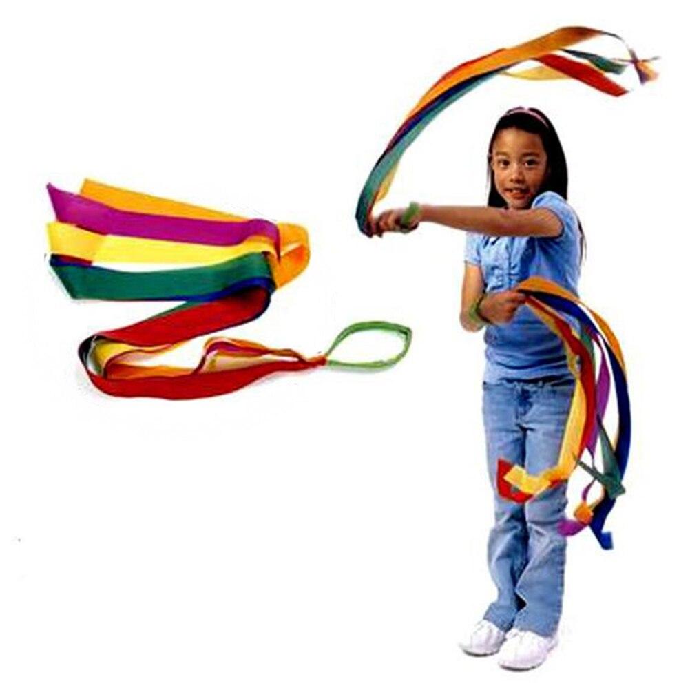 Cinta de baile de Color arcoíris Gmarty para gimnasio, gimnasia rítmica, arte Gimnástico, Ballet, Streamer, ejercicios de ejercicio para porristas, Fitness