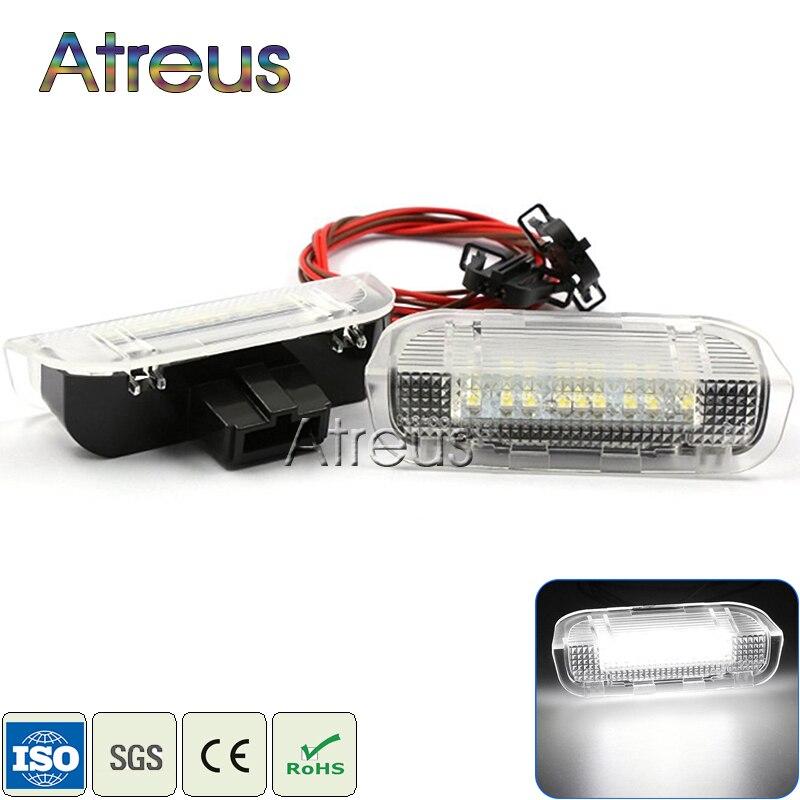 Atreus Puerta de coche con luces para VW Golf GTi Polo Jetta EOS Tiguan CC Scirocco Touareg Accesorios blanco SMD lámpara LED de cortesía