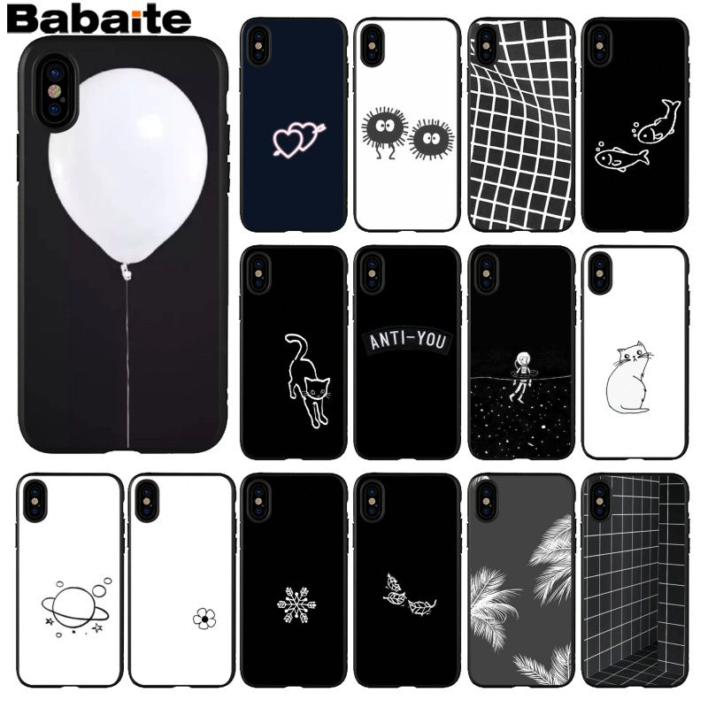 Bbabaite funda de teléfono de silicona suave de TPU blanco y negro para iPhone 8 7 6 6S Plus 5 5S SE XR X XS MAX Coque Shell para lol