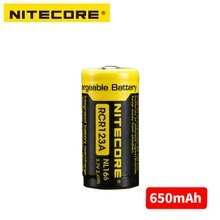 Nitecore NL166 16340 RCR123A 3,7 V 2.4Wh 650mAh литиевая аккумуляторная батарея, бесплатная доставка
