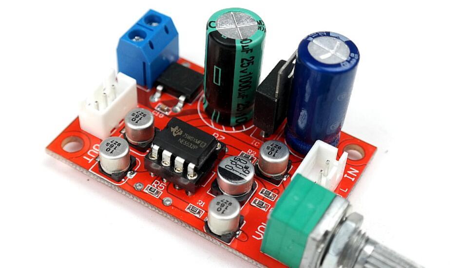 12V 24V NE5532 OP-AMP HIFI Amplifier Preamplifier Volume Tone EQ Control Board