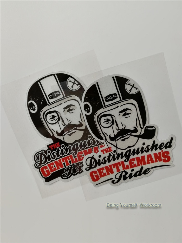The Distinguished Gentleman's Ride stickers cafe rider motorcyle sticker ACE decals helmet stickers racing decals dirt bikes