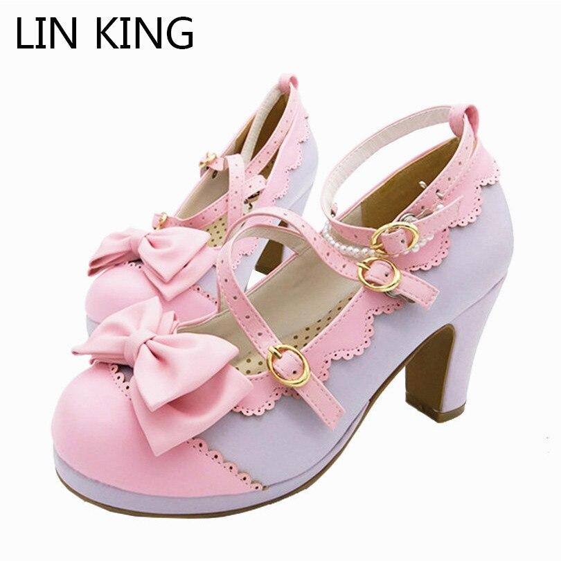 LIN KING/Весенняя женская обувь для костюмированной вечеринки, большие размеры
