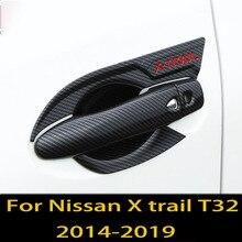 Für Nissan X trail T32 X-trail 2014-2019 tür griff rahmen protector griff auto tür schüssel dekorative abdeckung auto teile
