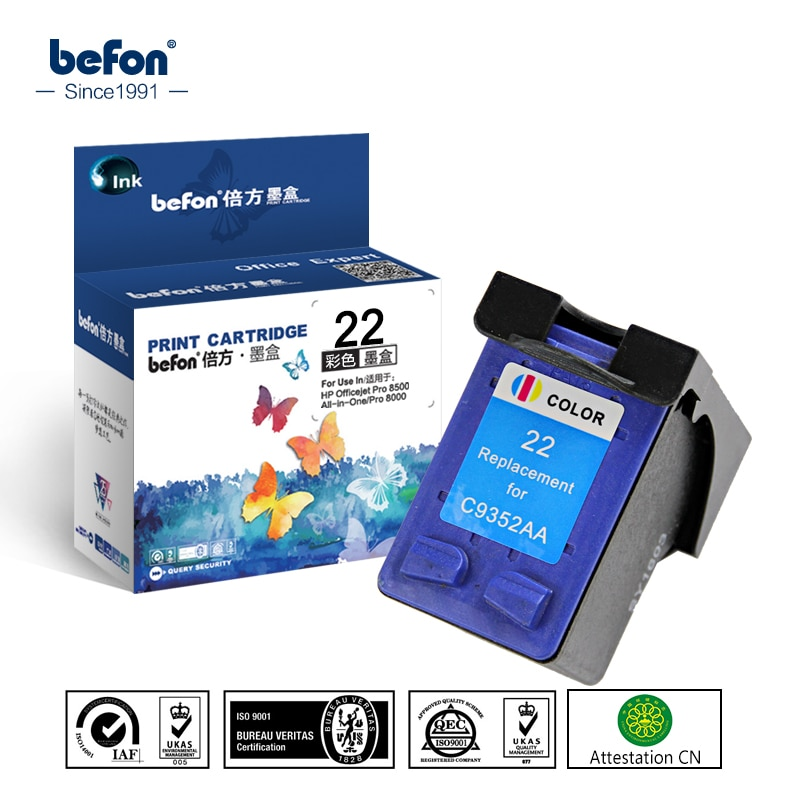 Cartucho de Tinta para Deskjet Cor do Cartucho de Substituição para hp Befon Compatível 3930 3940 2120 4315 Printer 22 F2110 Hp3930