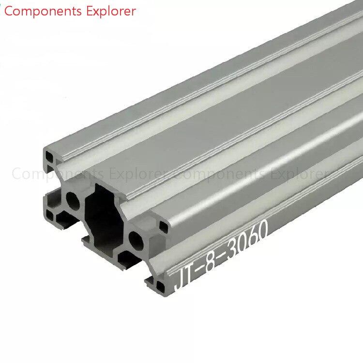 Corte arbitrario 1000mm 3060 perfil de extrusión de aluminio, Color plateado.