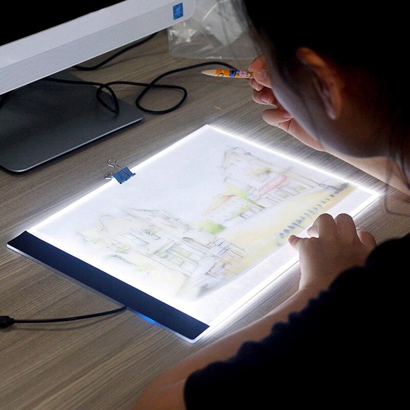 Almohadilla de luz LED para tableta A4 ultradelgada de 3,5mm para Herramienta de punto de cruz de pintura de diamantes con enchufe europeo/ru/AU/US/USB