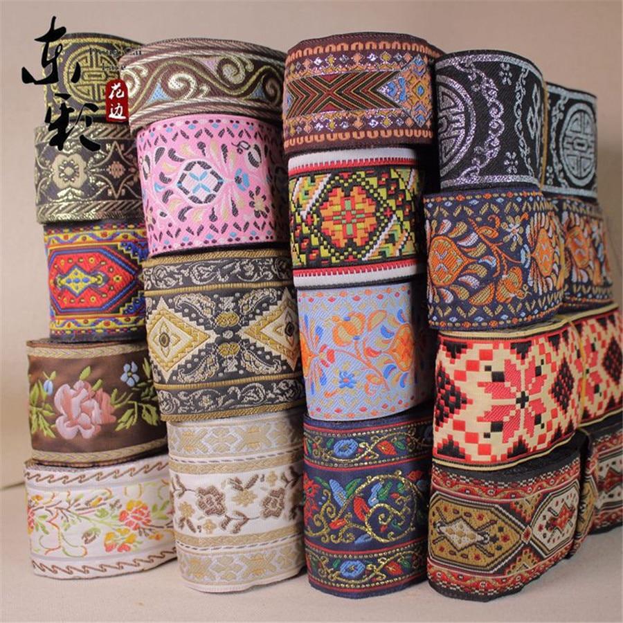 10yards Chinese Jacquard Lace Ribbon DIY Craft Apparel Handmade Sewing Supplies Clothing Shoes Curtain Ribbon Accessories