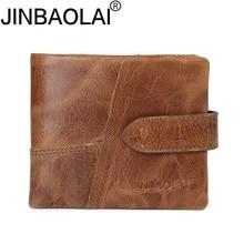 JINBAOLAI Hot Sale Genuine Leather Wallet Top Quality New Mens Wallets Luxury Dollar Price Vintage M