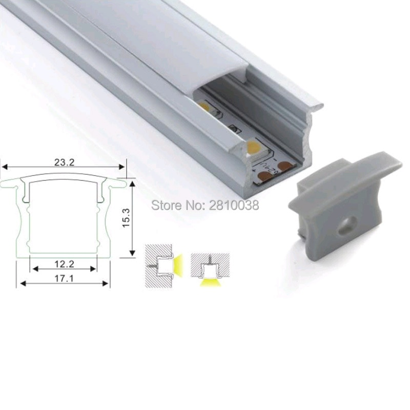500 x 1M Sets/Lot linear light led strip aluminium profile and 15mm deep T shape alu channel for wall or flooring light