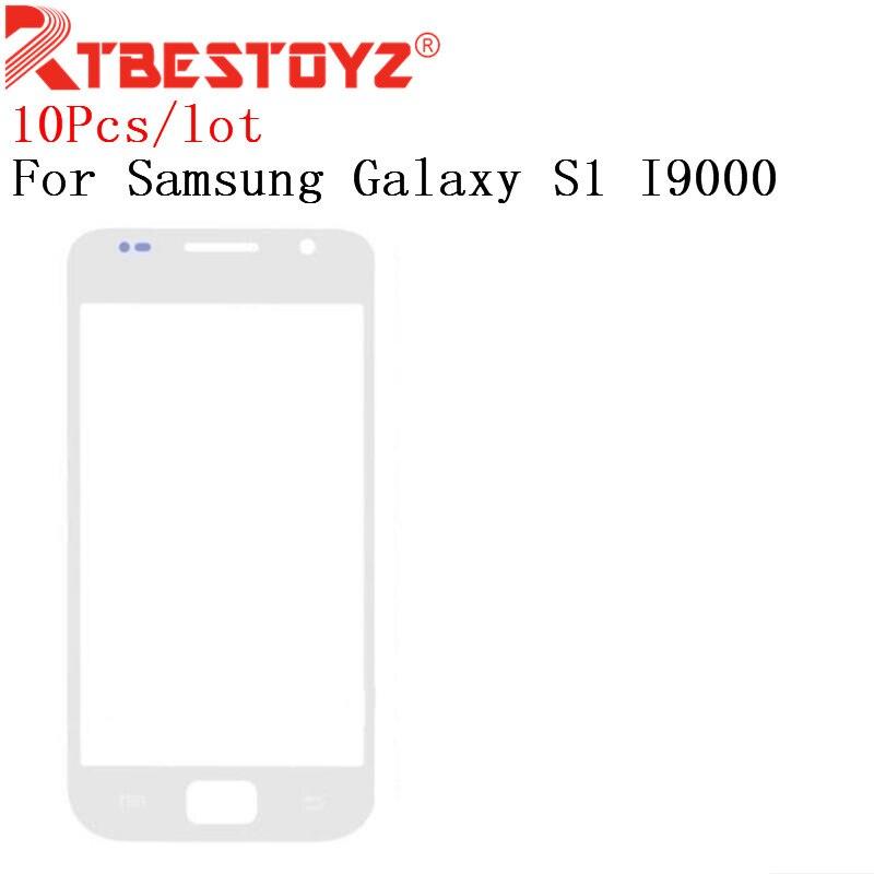 RTBESTOYZ 10 шт./лот 4,0 Сенсорная панель экрана для замены для Samsung Galaxy S1 I9000 LCD передняя внешняя стеклянная крышка объектива с логотипом