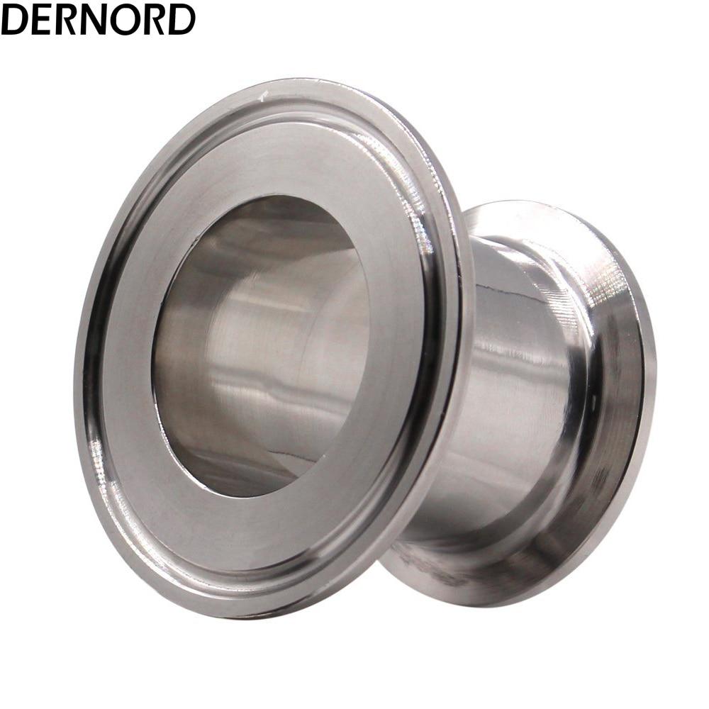 Reductor de tapón extremo de ajuste sanitario DERNORD 1,5 * 2 Tri Clamp trébol acero inoxidable 304 Triclover reductor plano
