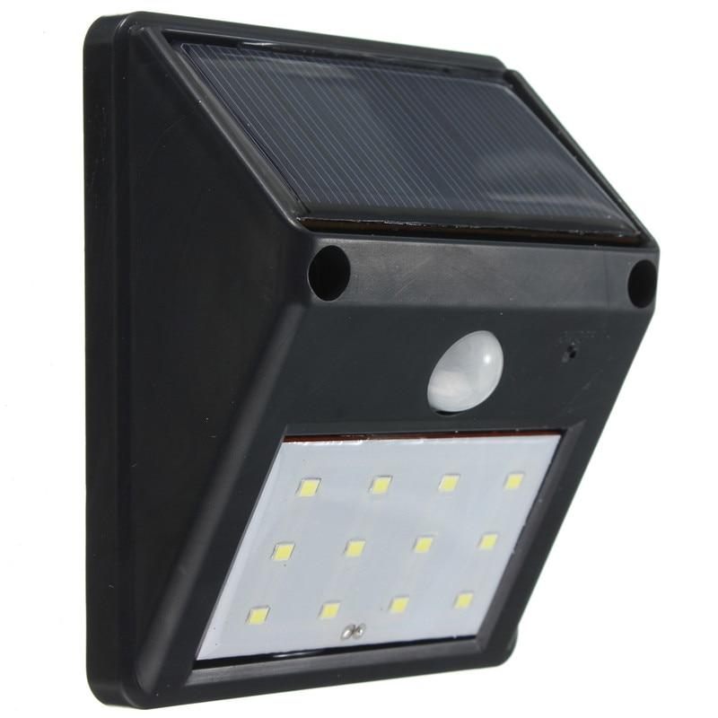 Impermeable, 12 ledes 2835 SMD, luz LED Solar, iluminación exterior, Sensor de movimiento PIR, lámpara de energía Solar, decoración de jardín, lámpara de pared