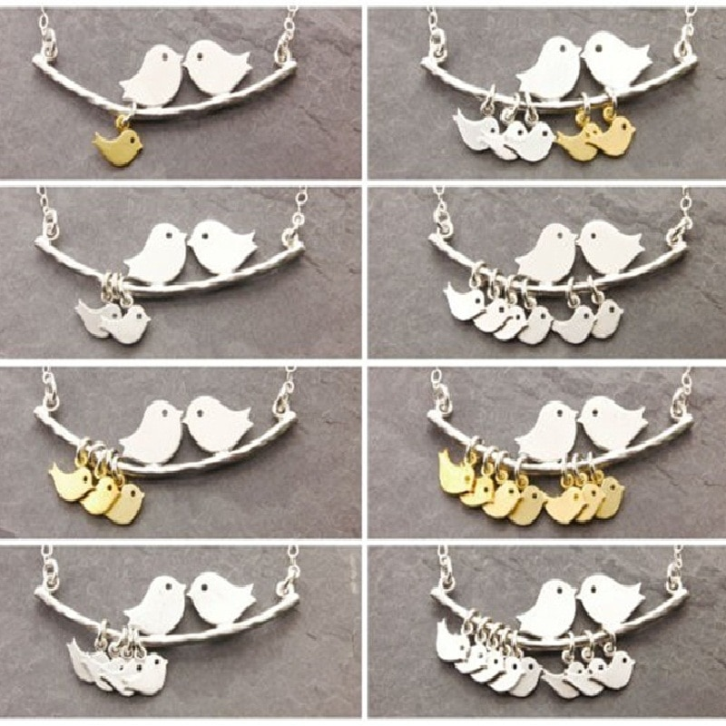 The New Selling 1-8 Category Bird Bird Necklace Simple Fashion Tree and Bird Pendant Necklace Mother