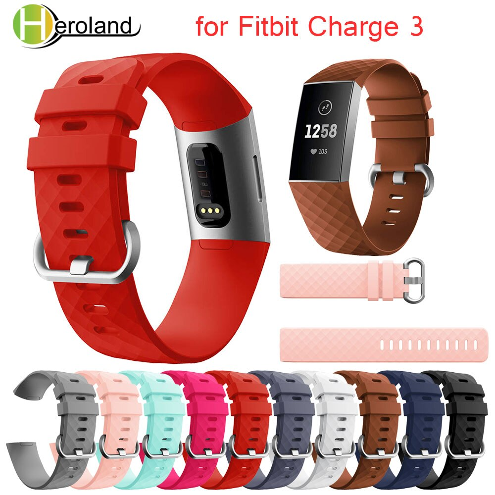 Wirstband for Fitbit Charge 4 Strap Replacement Silicone Bracelet  Men Women Accessories Smartwatch Band for Fitbit Charge 3