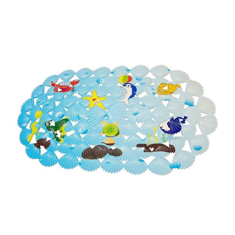 Alfombra de baño multiusos/PVC para alfombrillas de baño antideslizantes para niños y ducha mini alfombrillas de baño Coral Fish