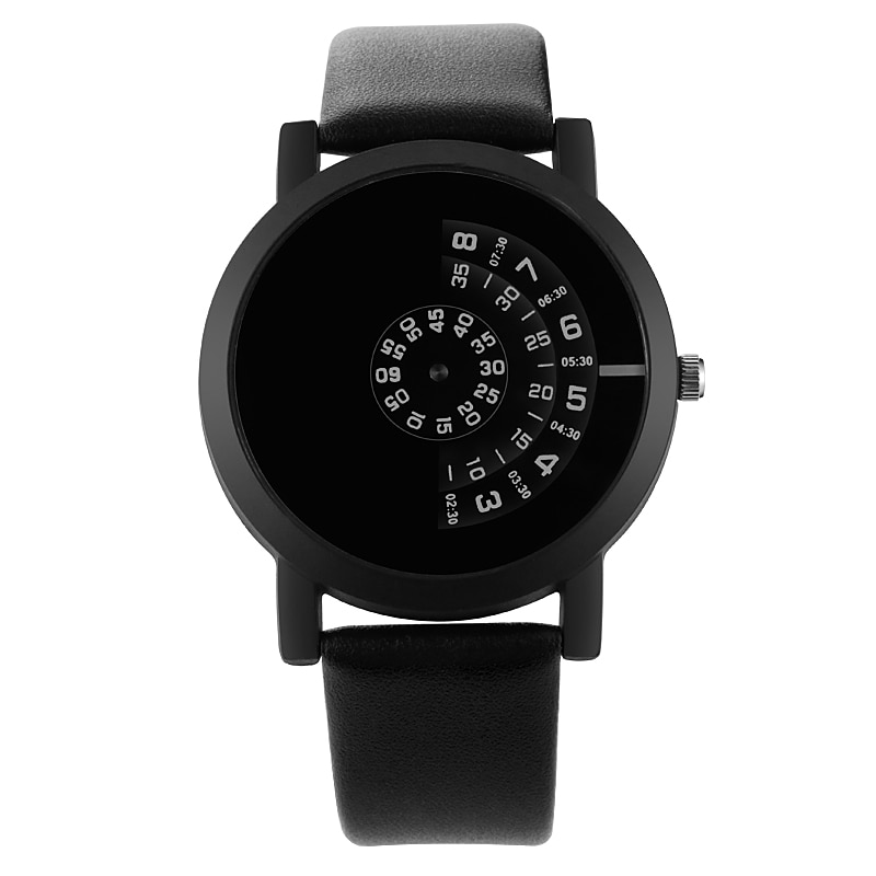 Männer Uhren Neue Mode Kreative Plattenspieler Uhr Lederband Quarz Armbanduhren Männer Casual Sport Uhren relogio masculino