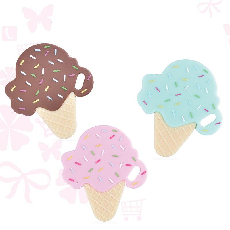 1 шт. силиконовый Прорезыватель в форме мороженого BPA бесплатно детский Прорезыватель подарок для кормления ребенка силиконовые прорезыватели игрушки жевательные
