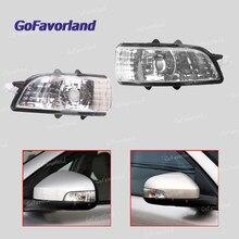 Lewy prawy boczne lusterka zewnêtrzne wskaźnik włącz sygnał świetlny lampy obiektyw 31111090 31111102 dla Volvo S40 S60 S80 C30 C70 v50 V70