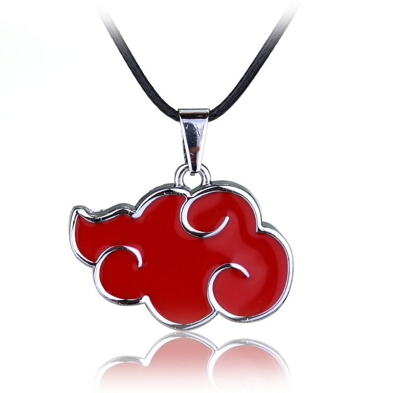 Mqchun japonês anime cosplay naruto akatsuki organização nuvem vermelha sinal de metal pingente colar feminino colar