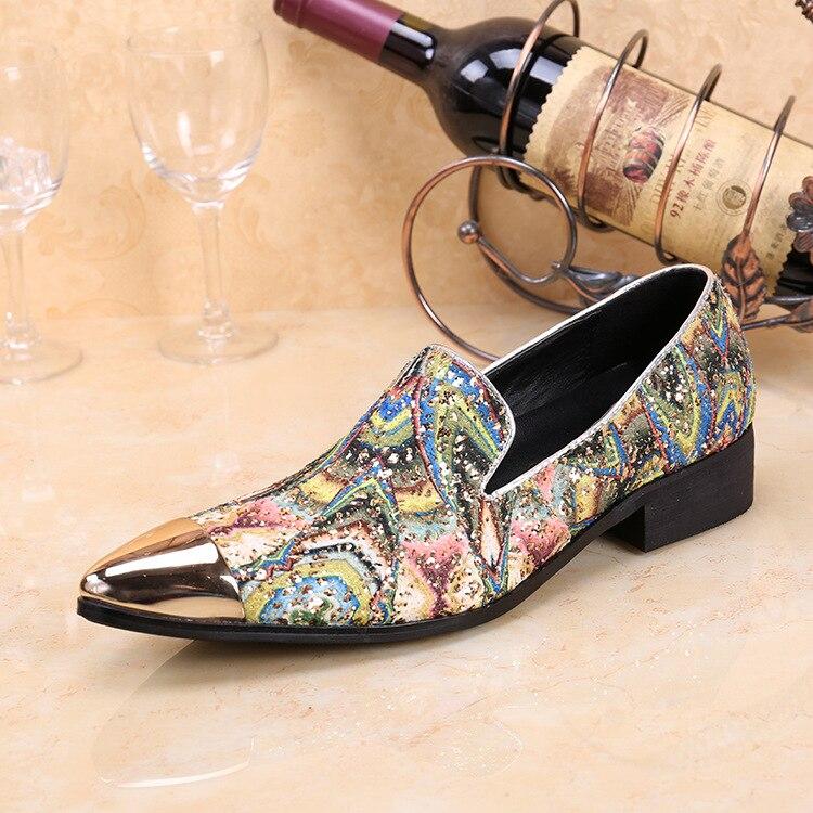 Zapatos De piel auténtica Oxford para Hombre, Calzado masculino De color rojo