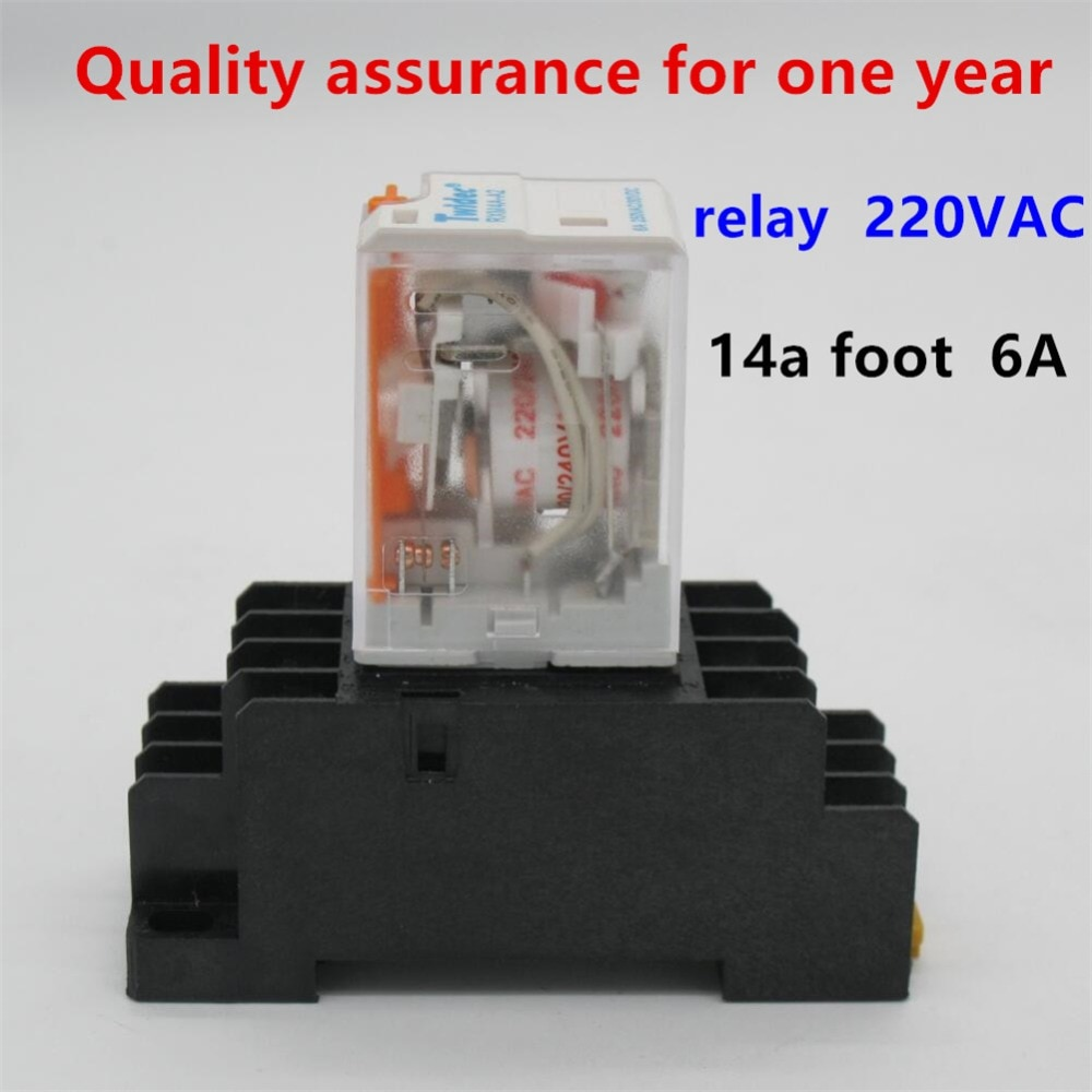 Электромагнитное реле общего назначения 220 В AC катушка 4PDT реле питания MY4NJ HH54P-L 14 Pin w микро мини-реле + держатель гнезда