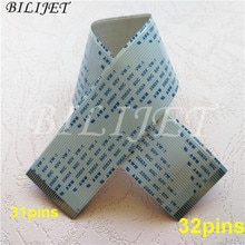 10 unids/lote Eco solvente impresora plotter Gongzheng Thunderjet VJ1802 VJ1801s/Litu dx5 cabeza de impresión cable de datos (31 y 32 pines) 27 CM 40 CM