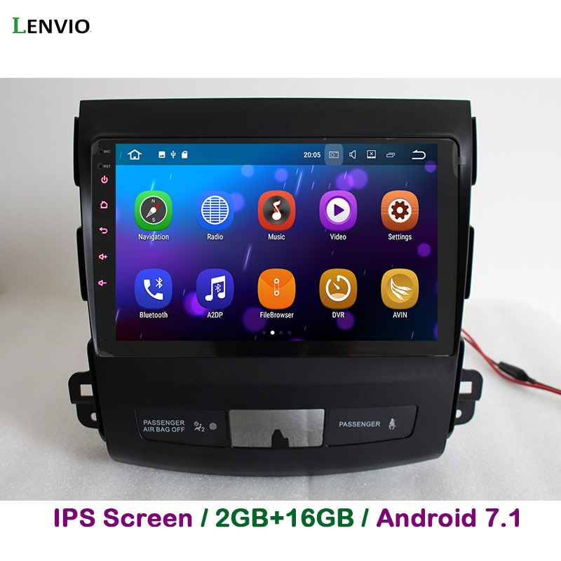 Lenvio 2G RAM Android 7,1 Radio de coche navegación GPS para Mitsubishi Outlander 2006, 2007, 2008, 2009, 2010, 2011, 2012 quad Core DAB IPS