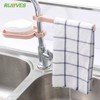 Etagere de rangement a suspendre dans levier  support de rangement pour eponge  salle de bains  cuisine  robinet  Clip pour tissu plat  egouttoir organisateur de serviettes seches